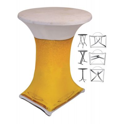 Statafelhoes Design Print Bierglas (00091) E-J Ø80-85cm