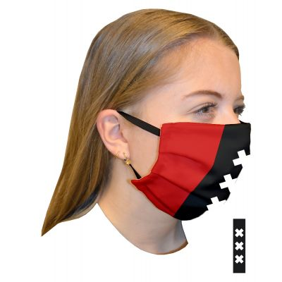 Mouth mask double layer Print Amsterdam