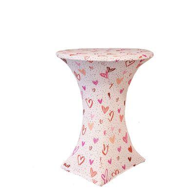 Statafelhoes Basic D2 Ø80-85cm Print Heart forever Pink