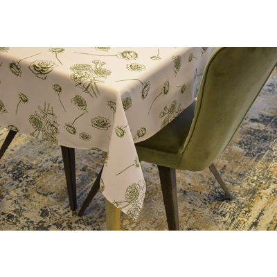 Tablecloth 220x130cm Print Romantic Bloom Sand