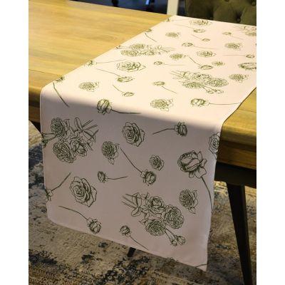 Tablerunner 146x45cm Print Romantic Bloom Sand