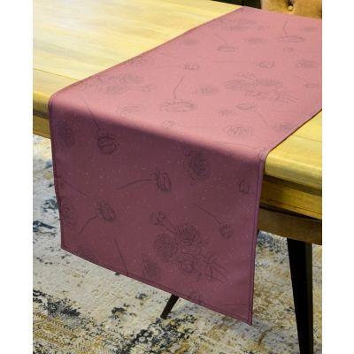 Tablerunner 146x45cm Print Romantic Bloom Old Pink