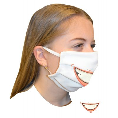 Mouth mask double layer Print Smile