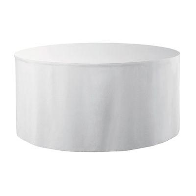 Combi skirting Unpleated Round PR Ø152x73cm White (01)
