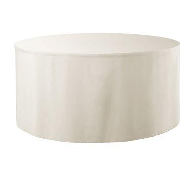 Combi skirting Unpleated Round PR Ø183x73cm Cream (02)
