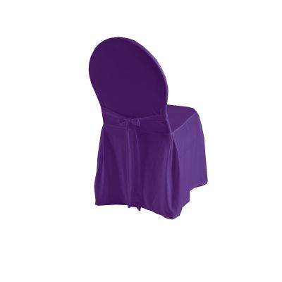 Chair cover Excellent with rope P-J Purple (68)