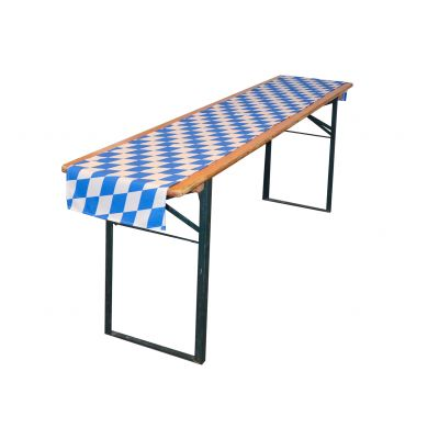 Tablecloth 250x40cm PR Blue/White