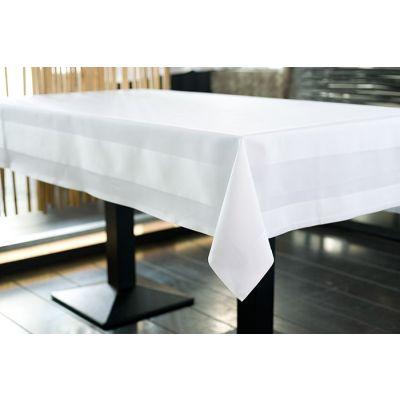 Tischdecke Damast mit Atlaskante Rechteckig