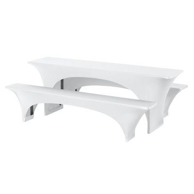 Banquetcover Set Fortune Plain-Jersey 220x70cm White (301)