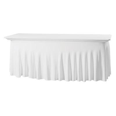 Tableskirting stretch Grandeur E-J 122x76x73cm White (121)