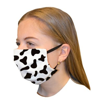 Mouth mask double layer Print Cow