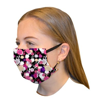 Mouth mask double layer print Flower