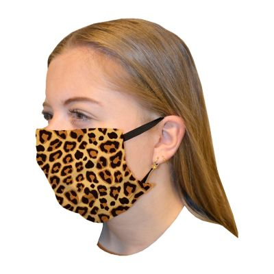 Mouth mask double layer print Leopard brown