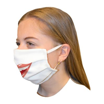 Mouth mask double layerPrint Smile Lips