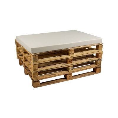 Pallet pillow including foam Skai leather White