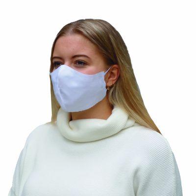 Mundmaske 100% Baumwolle Weiß ohne Falten